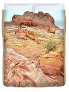 Looking Up From Wash 3 In Valley Of Fire Duvet Cover
