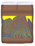 Looking Up In Love Park Duvet Cover