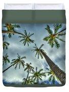 Looking Up The Hawaiian Palm Tree Hawaii Collection Art Duvet Cover