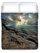 Lookout Mountain Sunset Duvet Cover