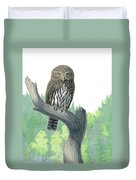 Lookout- Northern Pygmy-owl Duvet Cover
