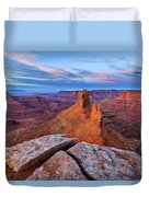 Lookout Point Sunrise Duvet Cover