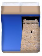 Lookout Tower On A Civil War Battlefield In Antietam Creek Maryl Duvet Cover