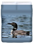 Loon In Blue Waters Duvet Cover