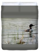 Loon On A Northern Minnesota Lake Duvet Cover