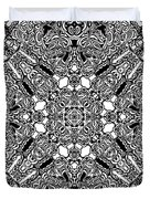 Loops Black And White No. 1 Duvet Cover