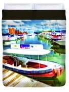 Loose Cannon Water Taxi 1 Duvet Cover by Lanjee Chee