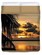 Lopez Point Sunset Duvet Cover