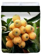 Loquat Exotic Tropical Fruit 4 Duvet Cover