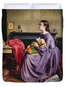 Lord - Thy Will Be Done Duvet Cover by Philip Hermogenes Calderon