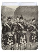 Lord Archibald Campbell And His Pipers Marching Through The Pass Of Glencoe Duvet Cover