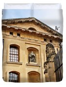 Lord Clarendon's Statue, Clarendon Building, Oxford Duvet Cover