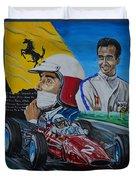 Lorenzo E Ferrari. La Passione Del Tifosi Duvet Cover