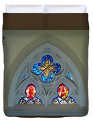 Loretto Chapel Stained Glass Duvet Cover