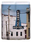 Lorraine Hotel Sign Duvet Cover