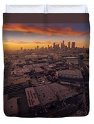 Los Angeles At Sunset Duvet Cover