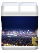 Los Angeles By Night Duvet Cover