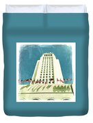 Los Angeles City Hall Duvet Cover