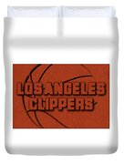 Los Angeles Clippers Leather Art Duvet Cover