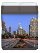 Los Angeles Downtown Night Scene Duvet Cover