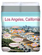 Los Angeles Highway To Heaven Duvet Cover