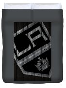 Los Angeles Kings Wood Fence Duvet Cover