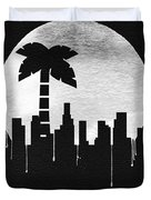 Los Angeles Landmark Black Duvet Cover