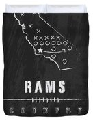 Los Angeles Rams Art - Nfl Football Wall Print Duvet Cover by Damon Gray