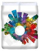 Los Angeles Small World Cityscape Skyline Abstract Duvet Cover