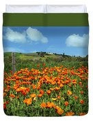Los Olivos Poppies Duvet Cover