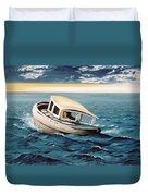 Lost At Sea Duvet Cover