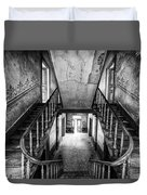 Lost Glory Staircase - Abandoned Castle Duvet Cover