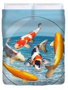 Lost In A Daydream - Fish Out Of Water Duvet Cover