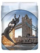 Lost In A Daydream - Floating On The Thames Duvet Cover