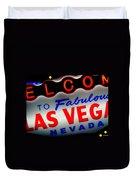 Lost In Vegas Duvet Cover
