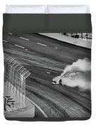 Lost It On The Turn Blkwht Duvet Cover