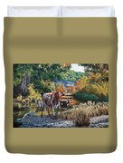 Lost Maples Watering Hole Duvet Cover