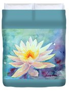 Lotus Awakens Duvet Cover