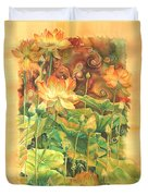 Lotus Field Duvet Cover