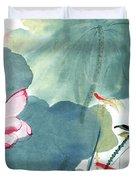 Lotus Figure Duvet Cover