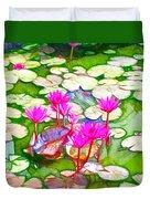 Lotus Flower 3 Duvet Cover