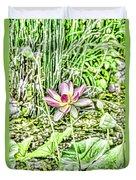Lotus Flower Bloom In Pink 2 Duvet Cover