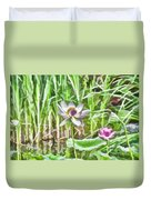 Lotus Flower On The Water Duvet Cover