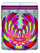 Lotus Flower Stunning Colors Abstract  Artistic Presentation By Navinjoshi Duvet Cover