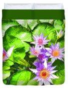 Lotus In Pond Duvet Cover