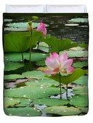 Lotus Pond #3 Duvet Cover