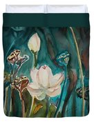 Lotus Study I Duvet Cover