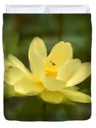 Lotus With Bee Duvet Cover