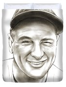 Lou Gehrig Duvet Cover