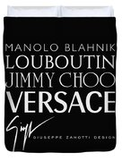 Louboutin, Versace, Jimmy Choo - Black And White - Lifestyle And Fashion  Duvet Cover